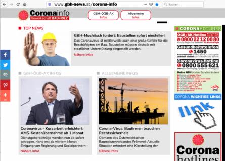 Corona-Virus: Eigene Internetplattform