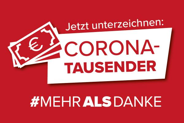 GBH-Muchitsch: Corona-Tausender für jene, die das Land am Laufen halten!